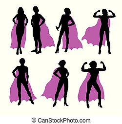 Super Woman Silhouettes