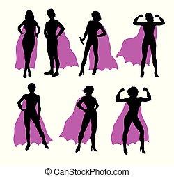 Super Woman Silhouettes