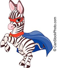 Super Zebra - Illustration of Super Hero Zebra Foal