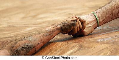 superación, asimiento, hindrances, pareja, manos, cuándo, ayuda