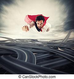 superare, il, difficulties., concetto, di, successo, e, sfondamento