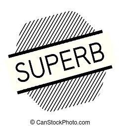 superb black stamp on white background. Sign, label, sticker