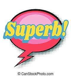superb comic word
