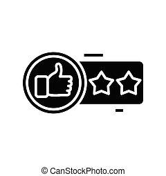 Superb mark black icon, concept illustration, vector flat symbol, glyph sign.