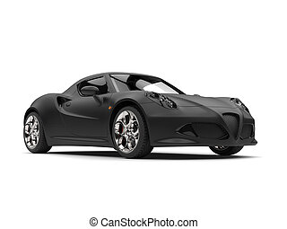 superb, matt, fekete, sportkocsi