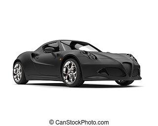 Superb matte black sports car