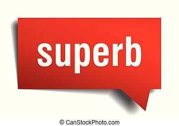 superb red 3d speech bubble - superb red 3d square isolated...