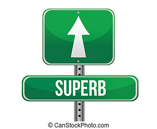 superb road sign illustration design over a white background