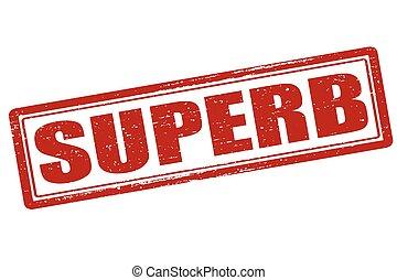 Superb - Rubber stamp with word superb inside, vector...