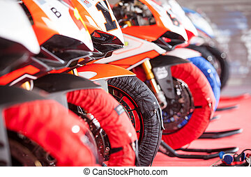 Superbike training for competition - warm up the wheels
