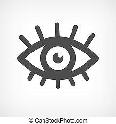 supercílios, ícone, olho, símbolo, sinal