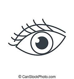 supercílios, olho, ícone