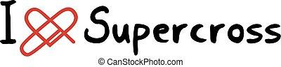 Supercross love icon - Creative design of Supercross love...
