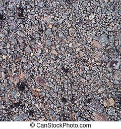 superfície, de, pedregoso, chão