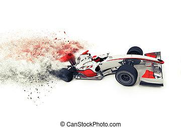 Superfast 3D generic race car - 3D render of a generic race...
