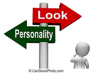superficial, mirada, poste indicador, carácter, exposiciones...