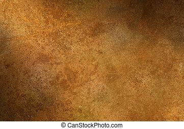 superficie apenada, lit, oxidado, grungy, diagonalmente