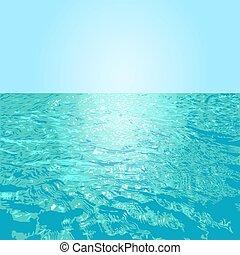 superficie del agua, vector, ilustración