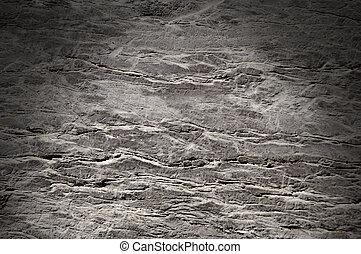 superficie, lit, textura, roca, agrietado, dramáticamente