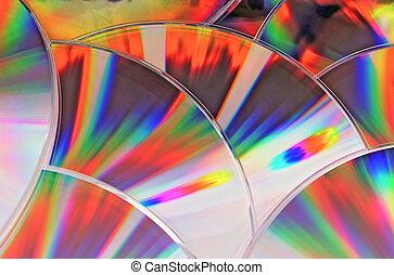 superficies, luz, reflexiones, cd