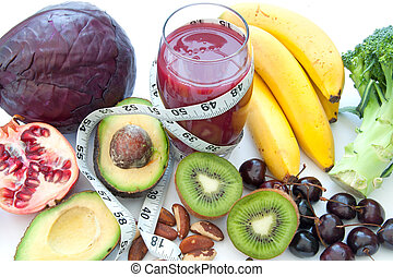 Superfood diet - Fruits and vegetables with high nutritional...