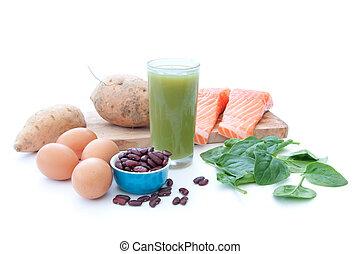 superfood, proteïne, rijk, dieet
