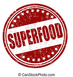 Superfood stamp - Superfood grunge rubber stamp on white,...