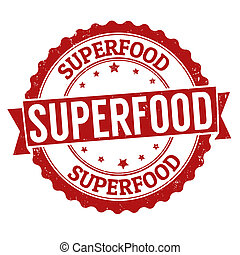 Superfood stamp - Superfood grunge rubber stamp on white, ...