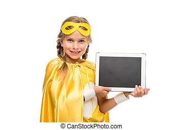 supergirl, tableta, digital