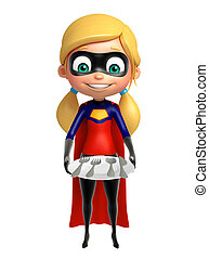 supergirl with Dinner plate