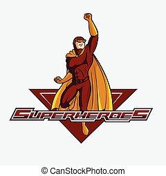 superhelden, abbildung, design