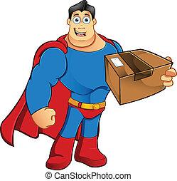 superhero , - , δέμα , κράτημα
