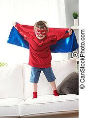 superhero, わずかしか, 力, 極度