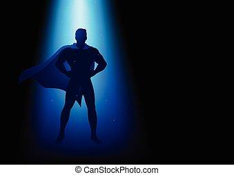superhero, シルエット