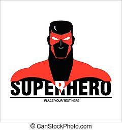 Superhero 2 - man with the mask and red costume. elegant...