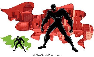 superhero, astratto, 2