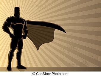 Superhero Background - Superhero over a grunge background...