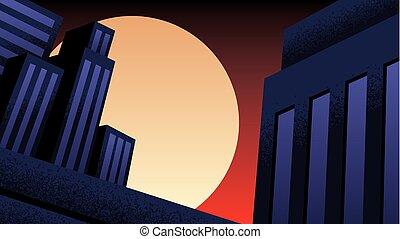 Superhero Background Night