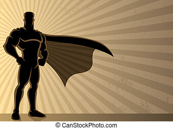 Superhero Background - Superhero over a grunge background...
