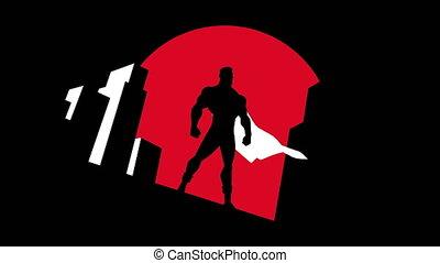 Superhero Background Symbol Animation