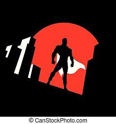 Superhero Background Symbol