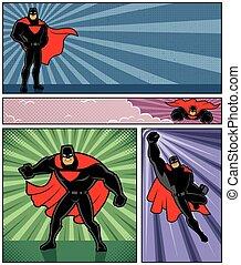 superhero, bandiere