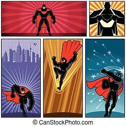 superhero, banieren, 5