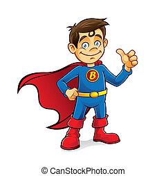 Superhero Boy - Superhero boys were standing with hands on ...