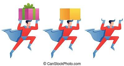 Superhero Bringing Something