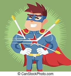 superhero bullet proof illustration