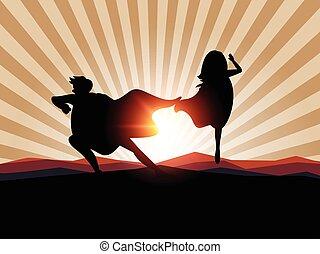 Superhero business man concept.vector illustration.