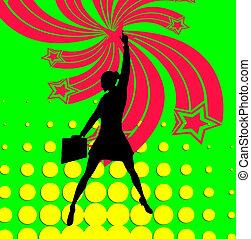 Superhero Business Woman Pop Art - Business women accomplish...