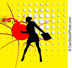 Superhero Business Woman Pop Art