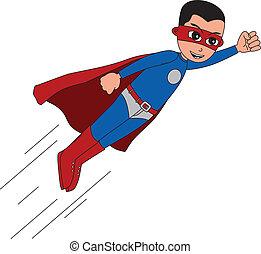 superhero, carattere, cartone animato